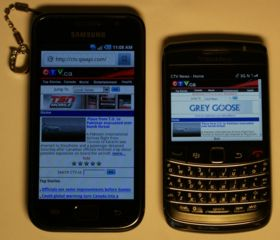 Blackberry vs Samsung