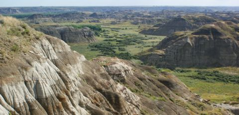 Overlooking the Dinosaur Provincial Park