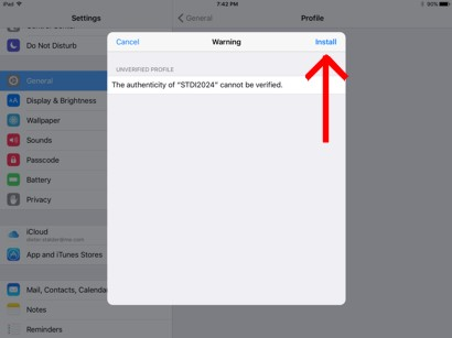 Install Certificate in iOS Step 3
